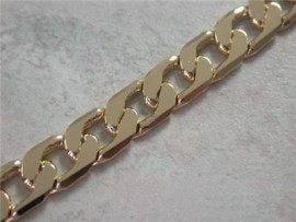 14k gold ep cuban mens necklace 5 mm 22 grams